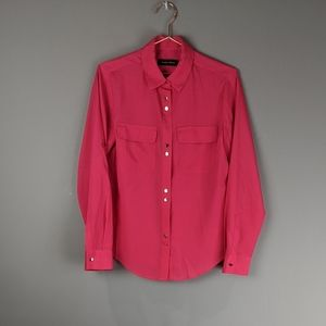 Ivanka Trump   Double Button Down Pink Blouse S
